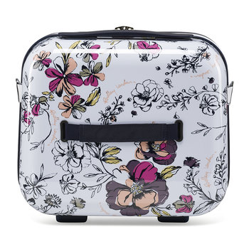 Sketchbook Floral Vanity Case - White