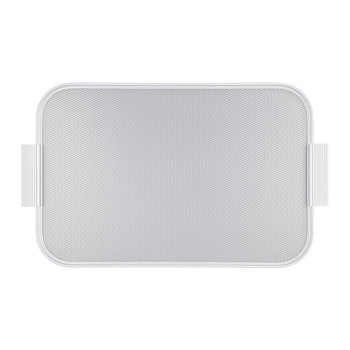 Ribbed Metal Tray with Handles - Silver