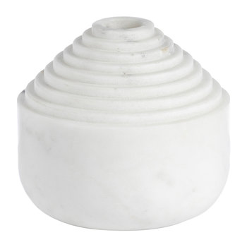 Laps Candle Holder - White Marble