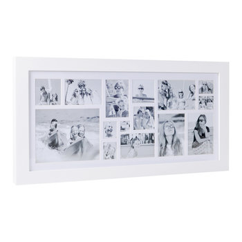 Multi Image Rectangle Frame - White