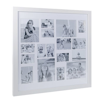 Multi Image Square Frame - White