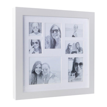 Small Multi Image Square Frame - White