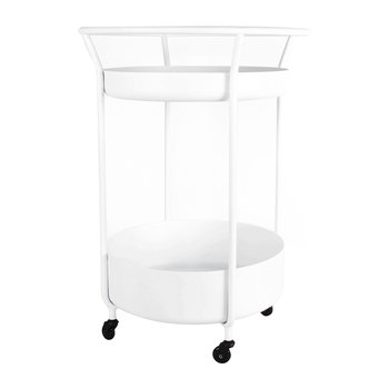 Corona Drinks Trolley - White