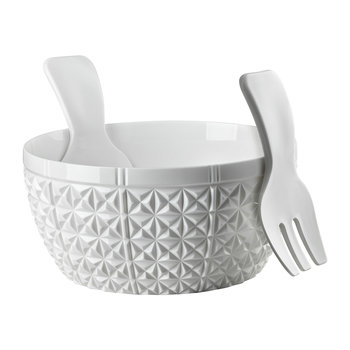 Churchill Salad Bowl and Server Set - White