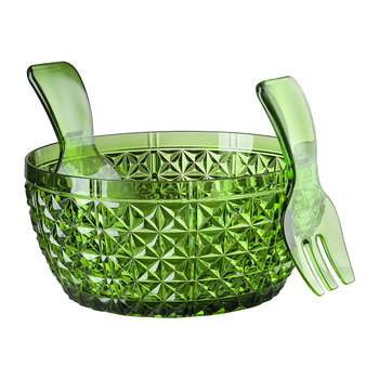 Churchill Salad Bowl and Server Set - Green
