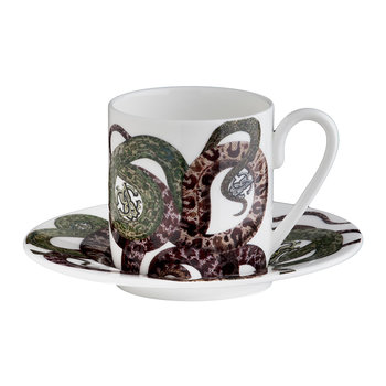 Snakes Tazza Coffee Cup and Saucer - Set of 6