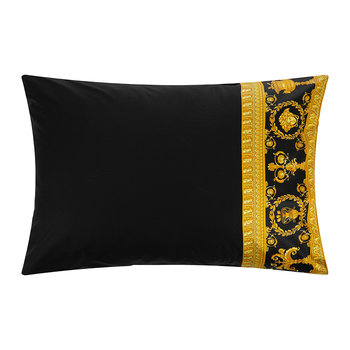 Barocco&Robe Queen Pillowcase Pair - Black/Gold