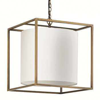 Derwent Cube Ceiling Light - Antique Brass