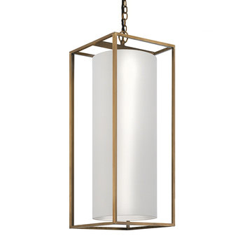 Derwent Rectangle Ceiling Light - Antique Brass