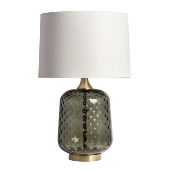 Risco Glass Table Lamp - Olive