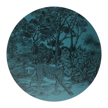 Leopard Placemat - Midnight Blue