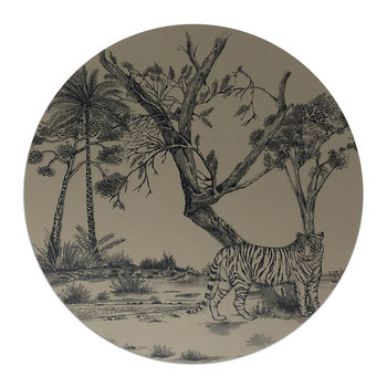 Tiger Placemat - Beige