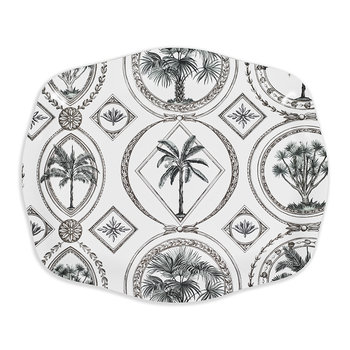 Palm Tray - Black/White