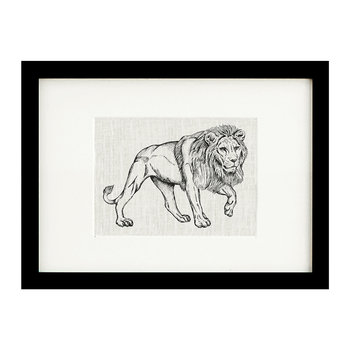 Animal Screen Print - 50x70cm - Lion