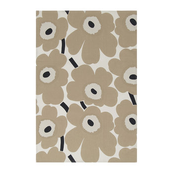 Pieni Unikko Tea Towel - Set of 2 - White/Beige/Dark Blue