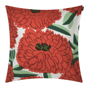 Primavera Cushion Cover - White/Orange/Green - 50x50cm