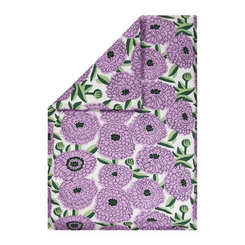 Primavera Duvet Cover - White/Violet/Green - Single