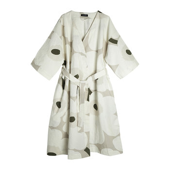 Unikko Bathrobe - Beige/White/Green