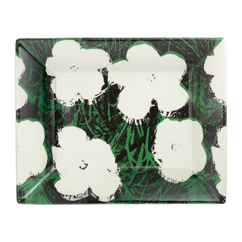 Andy Warhol Tray - Flowers - White