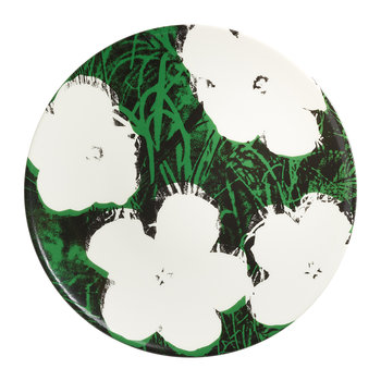 Andy Warhol Plate - Flowers - White