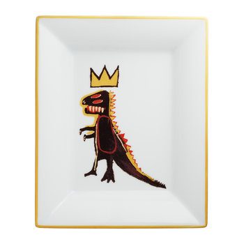 Jean-Michel Basquiat 'Gold Dragon' Tray