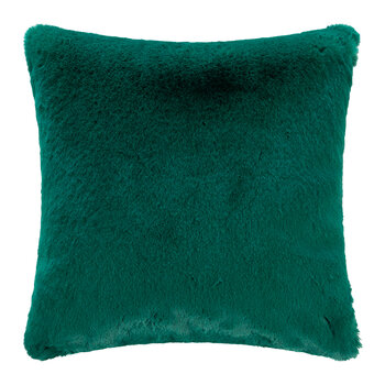 Faux Fur Cushion - Alpine Green - 45x45cm