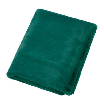 Faux Fur Throw - Alpine Green - 140x180cm