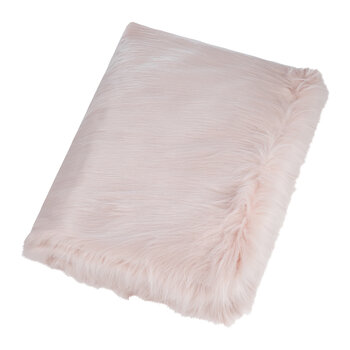 Himalaya Faux Fur Throw - Blush
