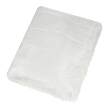 Himalaya Faux Fur Throw - Ivory