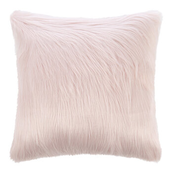 Himalaya Faux Fur Cushion - Blush
