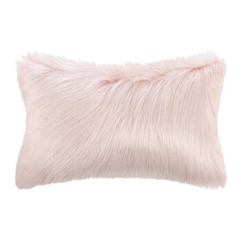 Himalaya Faux Fur Pillow - Blush - 30x50cm