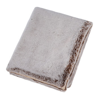 Faux Fur Throw - Chestnut - 140x180cm