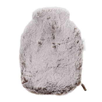 Faux Fur Hot Water Bottle - Chestnut