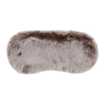 Faux Fur Eye Mask - Chestnut