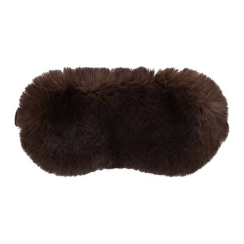 Faux Fur Eye Mask - Chocolate
