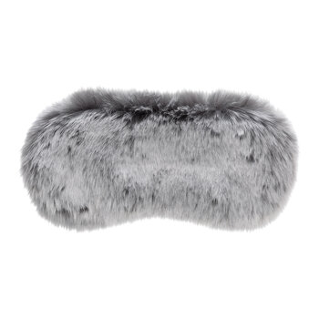 Faux Fur Eye Mask - Grey