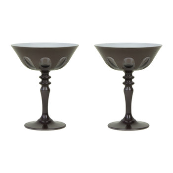 Rialto Coupe Glass - Set of 2 - Warm Grey