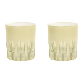 Rialto Old Fashioned Glass - Set of 2 - Creme