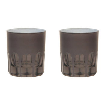 Rialto Old Fashioned Glass - Set of 2 - Warm Gray