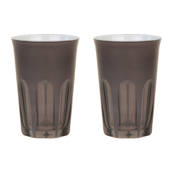 Rialto Glass Tumbler - Set of 2 - Warm Grey