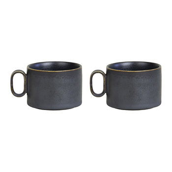 Ozu Ceramic Coffee Cup - Set of 2 - Graphite