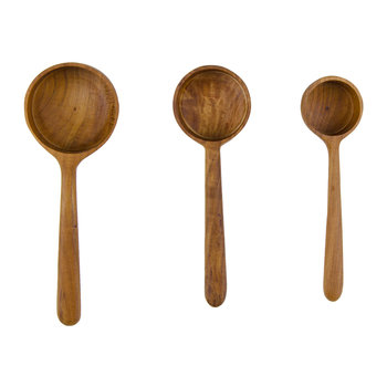 Teak Root Measuring Ladles - Set of 3