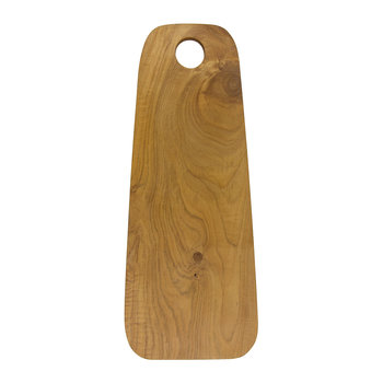 Teak Root Round-Edge Cutting Board