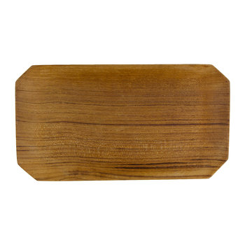 Teak Root Bevelled Tray