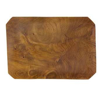 Teak Root Beveled Tray