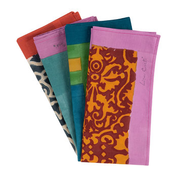 Floral Clash Cotton Handkerchief - Set of 4 - 3