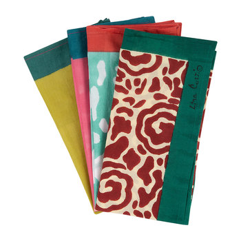 Floral Clash Cotton Handkerchief - Set of 4 - 5