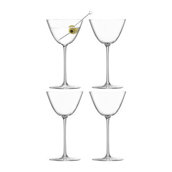 Borough Martini Glass - Set of 4 - Clear