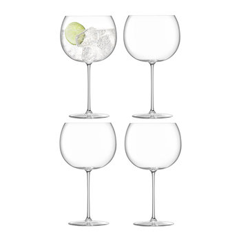 Verre Ballon Borough - Lot de 4 - Transparent
