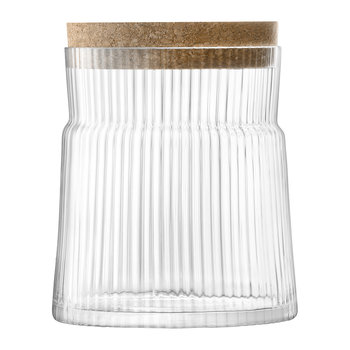Gio Line Container & Cork Stopper - Clear